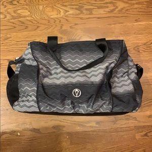 Black Ombré Chevron Ivivva Duffel Shoulder Bag